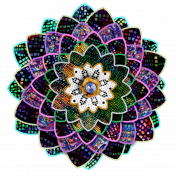 Colorful Mosaic Paper Flower