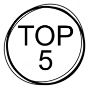Numbered Scribble Stamp - Top 5