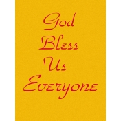 God Bless Us Everyone Journal Card
