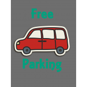 Free Parking Journal Card