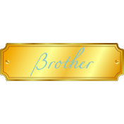 Plate- Brother