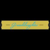 Plate- Granddaughter