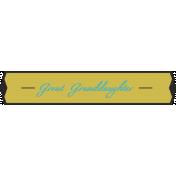 Plate- Great Granddaughter