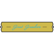 Plate- great grandson
