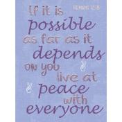 Live at Peace Pocket Card