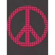 Peace Sign Pocket Card