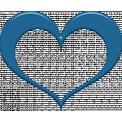 Blue Heart Frame