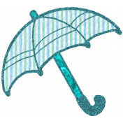 Seersucker Summer - Umbrella 1 - Teal