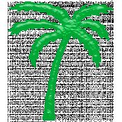 Glassy Beach- Palm Tree 1