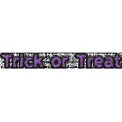 Happy Halloween 1- Words- Trick or Treat Purple