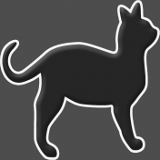 Happy Halloween 1- Cat B & W