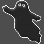 Happy Halloween 1- Ghost B & W