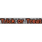 Happy Halloween 1- Words- Trick or Treat Orange