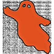 Happy Halloween 1- Ghost Orange
