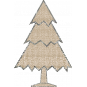 Christmas Gingham Plaid- Tree 2-Burlap-Silver
