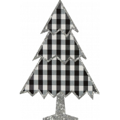 Christmas Gingham Plaid- Tree 2-Gingham-Silver