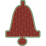 Rustic Christmas - Bell 1 Red w Stars