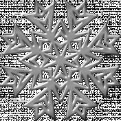 Silver Metallic Snowflake 1