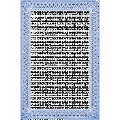Antique Paper Lace Frame 5- Blue