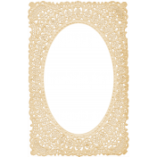 Antique Paper Lace Frame 11- Yellow