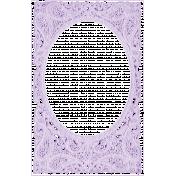 Antique Paper Lace Frame 10- Lavender