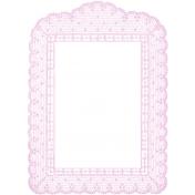 Antique Paper Lace Frame 7- Pink
