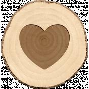 Spread Your Wings- Tree Slice Heart