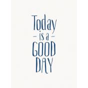 Good Day- Journal Card Good Day Navy 3x4v