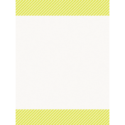 Good Day- Journal Card Stripes Yellow 3x4