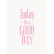 GoodDay- Journal Card Good Day Pink Light 3x4v