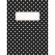 Good Day- Journal Card Polka Dots 3x4v
