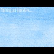 Good Day- Journal Card PaintBlue 3x4h