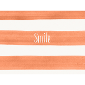 Good Day- Journal Card Paint Stripes Smile 3x4h