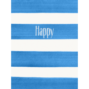 Good Day- Journal Card Paint Stripes Happy 3x4v