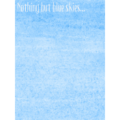Good Day- Journal Card Paint Blue 3x4v