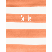 Good Day- Journal Card Paint Stripes Smile 3x4v