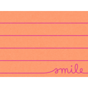 Good Day- Journal Card Smile 3x4h