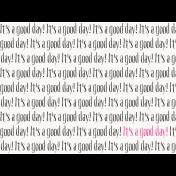 Good Day- Journal Card Text 3x4h