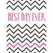 Good Day- Journal Card BestDay 3x4v