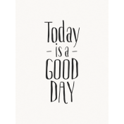 Good Day- Journal Card GoodDay Black 3x4v