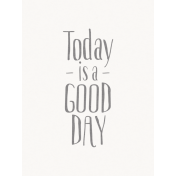 Good Day- Journal Card GoodDay Gray 3x4v