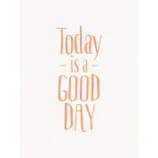 Good Day- Journal Card Good Day Orange 3x4v