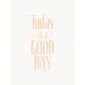 Good Day- Journal Card Good Day Orange Light 3x4v