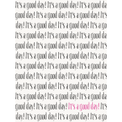 Good Day- Journal Card Text 3x4v