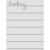 Good Day- Journal Card Today 3x4v