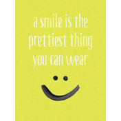 Good Day- Journal Card Smiley 3x4v