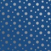 Christmas Day_Paper Snowflakes Silver Blue