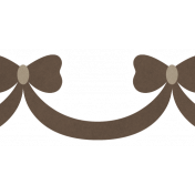 Christmas Day_Stickers Bows Brown