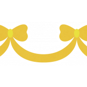 Christmas Day_Sticker Bows Yellow