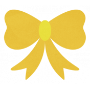 Christmas Day_Sticker Bow Yellow